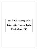 Thiết Kế Hướng Dẫn Làm Biểu Tượng Lịch Photoshop CS6