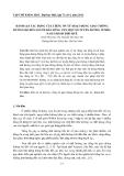 ĐÁNH GIÁ TÁC ĐỘNG CỦA TIẾNG ỒN TỪ HOẠT ĐỘNG GIAO THÔNG ĐƯỜNG BỘ ĐẾN NGƯỜI DÂN SỐNG VEN MỘT SỐ TUYẾN ĐƯỜNG Ở PHÍA NAM THÀNH PHỐ HUẾ