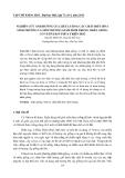 NGHIÊN CỨU ẢNH HƯỞNG CỦA LIỀU LƯỢNG CÁC CHẤT ĐIỀU HÒA SINH TRƯỞNG VÀ MÔI TRƯỜNG GIÂM HOM TRONG NHÂN GIỐNG CỎ VETIVER Ở THỪA THIÊN HUẾ