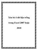 Xóa bỏ ô dữ liệu trống trong Excel 2007 hoặc 2010