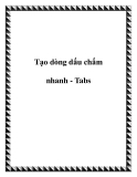 Cách tạo dòng dấu chấm nhanh - Tabs