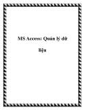MS Access: Quản lý dữ liệu
