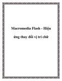 Macromedia Flash - Hiệu ứng thay đổi vị trí chữ