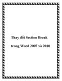 Thay đổi Section Break trong Word 2007 và 2010