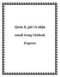 Quản lí, gửi và nhận email trong Outlook Express