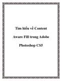 Tìm hiểu về Content Aware Fill trong Adobe Photoshop CS5