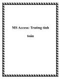 MS Access: Trường tính toán
