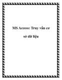 MS Access: Truy vấn cơ sở dữ liệu