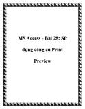 MS Access: Sử dụng công cụ Print Preview