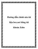Hướng dẫn cách chỉnh sửa tài liệu box.net bằng tài khoản Zoho