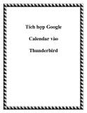 Tích hợp Google Calendar vào Thunderbird