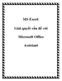 MS Excel: Giải quyết vấn đề với Microsoft Office Assistant