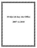 10 tiện ích hay cho Office 2007 và 2010