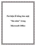 """Pat hiện lỗ hổng bảo mật """"lâu năm"""" trong Microsoft Office"""