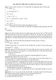 Đề 3: ĐỀ THI TUYỂN SINH VÀO LỚP 10 CHUYÊN HÓA