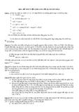 Đề 5: ĐỀ THI TUYỂN SINH VÀO LỚP 10 CHUYÊN HÓA
