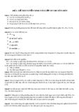 Đề 1: ĐỀ THI TUYỂN SINH VÀO LỚP 10 CHUYÊN HÓA