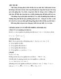Ứng dụng định lý đảo về dấu của tam thức bậc 2