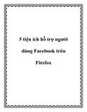 5 thủ thuật hỗ trợ người dùng fac trên firefox