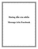 Hướng dẫn xóa nhiều Message trên Facebook