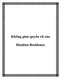 Không gian quyến rũ của Honiton Residence