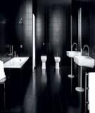 Nội thất phòng tắm tuyệt đẹp với màu đen và trắng từ Falper