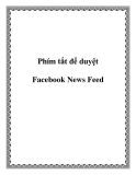 Phím tắt để duyệt Facebook News Feed