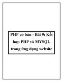 PHP cơ bản - Bài 9: Kết hợp PHP và MYSQL trong ứng dụng website