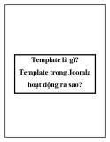 Template là gì? Template trong Joomla hoạt động ra sao?