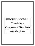 TUTORIAL JOOMLA: VirtueMart Component - Thêm danh mục sản phẩm