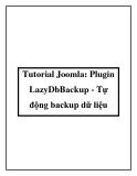 Tutorial Joomla: Plugin LazyDbBackup - Tự động backup dữ liệu