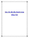 Quy tắc đặt dấu thanh trong tiếng Việt