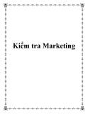 Kiểm tra Marketing - qui trình trong quản trị nhân sự