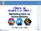 Bài giảng Marketing Dich vụ - GV. Nguyễn Quốc Nghi