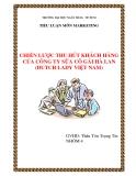 Tiểu luận: CHIẾN LƯỢC THU HÚT KHÁCH HÀNG CỦA CÔNG TY SỮA CÔ GÁI HÀ LAN (DUTCH LADY VIỆT NAM)