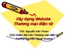 Xây dựng Website Thương mại điện tử