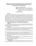 NGHIÊN CỨU ỨNG DỤNG MỘT SỐ BIỆN PHÁP TỔNG HỢP ĐỂ KÉO DÀI THỜI HẠN BẢO QUẢN CHO MỘT SỐ LOẠI RAU, QUẢ CÓ GIÁ TRỊ HÀNG HOÁ CAO Ở TỈNH BÌNH ĐỊNH
