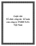 Luận văn Tổ chức công tác  kế toán của công ty TNHH ToTo Việt Nam