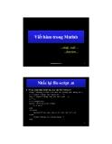 Viết hàm trong Matlab
