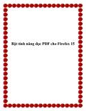 Bật tính năng đọc PDF cho Firefox 15