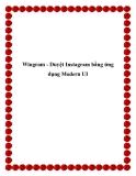 Wingram - Duyệt Instagram bằng ứng dụng Modern UI