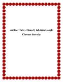 outliner Tabs - Quản lý tab trên Google Chrome theo cây