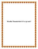 Mozilla Thunderbird 15 có gì mới?