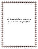 Sắp xếp độ phổ biến của bài đăng trên Facebook với ứng dụng Good Sort