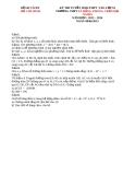 ĐỀ THI TUYỂN SINH LỚP 10 THPT LÊ HỒNG PHONG, TRẦN ĐẠI NGHĨA  NĂM HỌC 2013- 2014 Môn thi: TOÁN - SỞ GIÁO DỤC VÀ ĐÀO TẠO HỒ CHÍ MINH