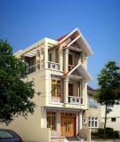 Mặt tiền ngôi nhà và bí quyết phối hợp màu sắc, chất liệu