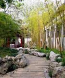 Sân vườn mang phong cách Trung Hoa