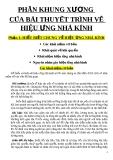 PHẦN KHUNG XƯƠNG  CỦA BÀI THUYẾT TRÌNH VỀ HIỆU ỨNG NHÀ KÍNH