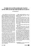 """Báo cáo """"Tác động của di chuyển lao động quốc tế đối với sự phát triển của Việt Nam trong hội nhập quốc tế """""""