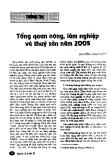 """Báo cáo """" Tổng quan nông, lâm nghiệp và thuỷ sản năm 2005 """""""